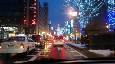 雪のない札幌